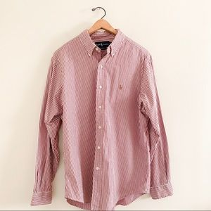 Ralph Lauren Classic Fit Red & White Button Up